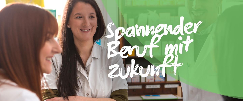 Beruf mit Zukunft - junge Personen in der Apotheke